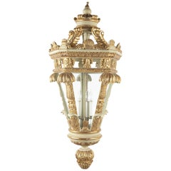 Italian Carved Parcel-Gilt Lantern