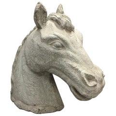 Italian Carved Stone Horse Head, 19th Century