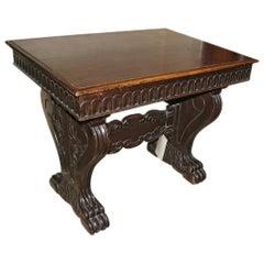 Italian Carved Walnut Table