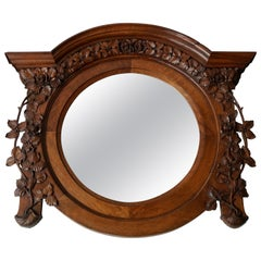 Italian Carved Wood Mirror