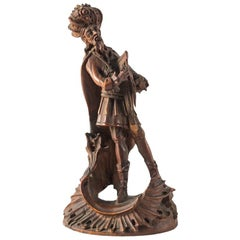 Italian Carved Wood Sculpture, King David, Italy, 18th Century, Venice