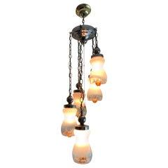 Italian Cascading Midcentury Hanging Light Fixture