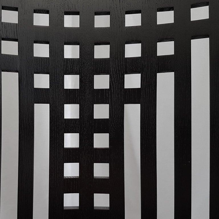 Italian Cassina, Charles Rennie Mackintosh Curved Ebonized Ashwood Armchair For Sale 5