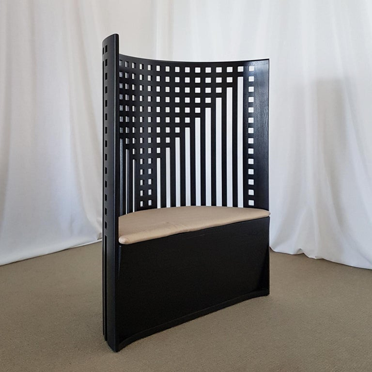 Willow chair was designed by Charles R. Mackintosh for the