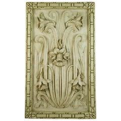 Italian Cast Resin Stone Daffodil Architectural Panel