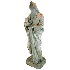 Italian Cast Stone Garden Statue of Saint Jude 1890