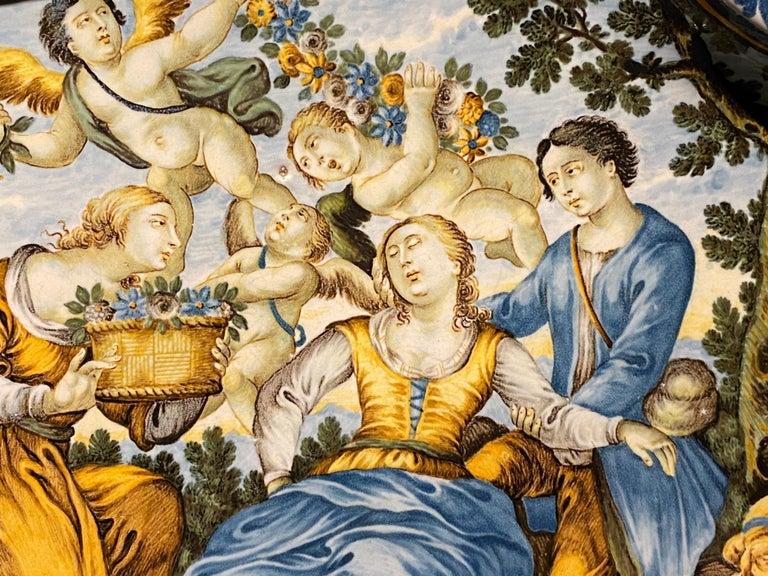 18th Century Italian Castelli Majolica Plate For Sale