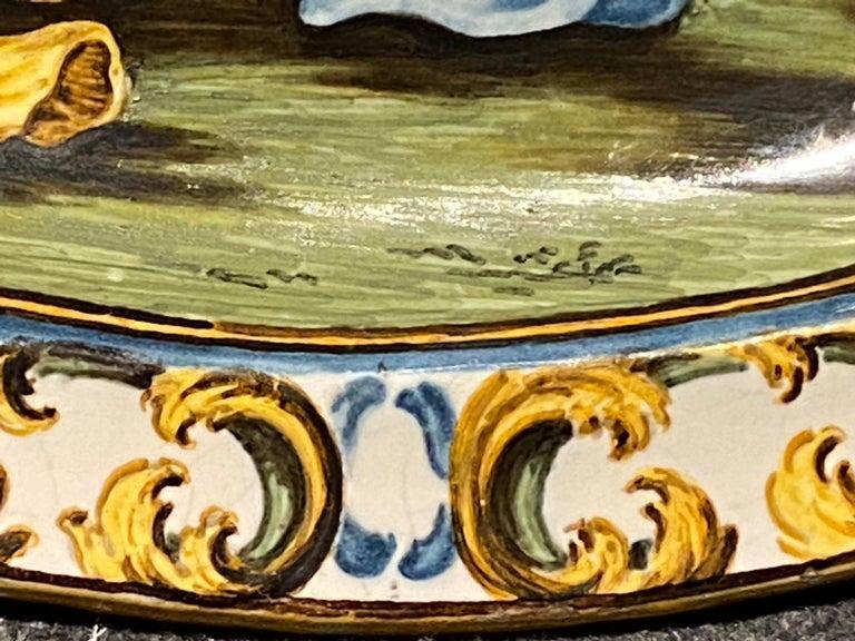 Italian Castelli Majolica Plate For Sale 2