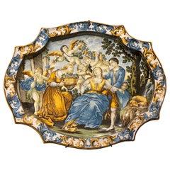 Italian Castelli Majolica Plate