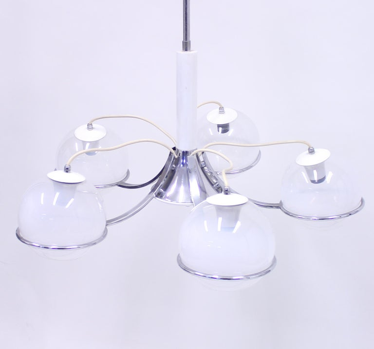 Metal Italian Ceiling Lamp Attributed to Gino Sarfatti, 1960s For Sale