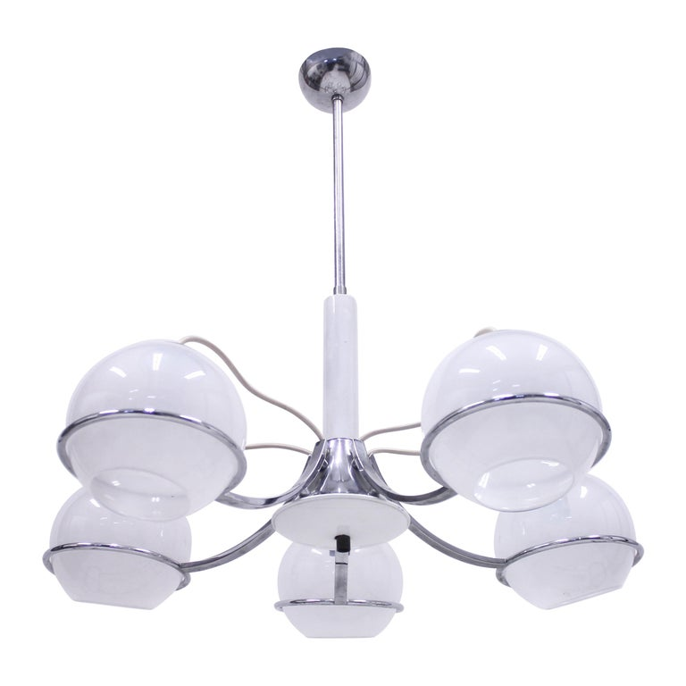 Italian Ceiling Lamp Attributed to Gino Sarfatti, 1960s For Sale