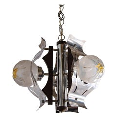 Italian Ceiling Lamp from the 1950s, Mazzega