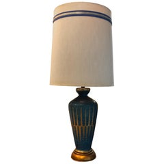 Italian Ceramic and Brass Table Lamp by Guido Bitossi for Marbro