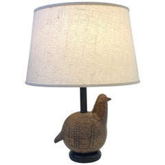 Italian Ceramic Bird Table Lamp by Bitossi