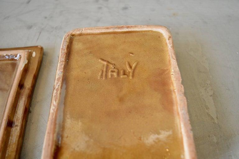 Italian Ceramic Brown Box For Sale 1