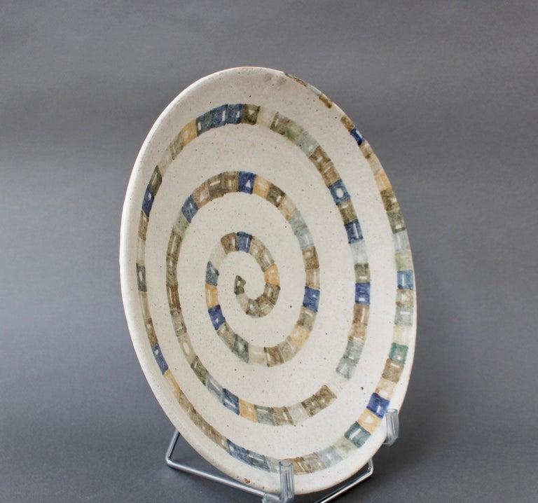 Italian Ceramic Decorative Bowl by Bruno Gambone (circa 1980s) For Sale 5