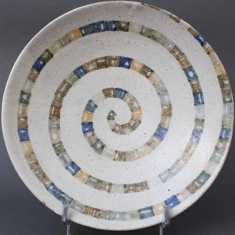 Italian Ceramic Decorative Bowl by Bruno Gambone (circa 1980s) For Sale 6
