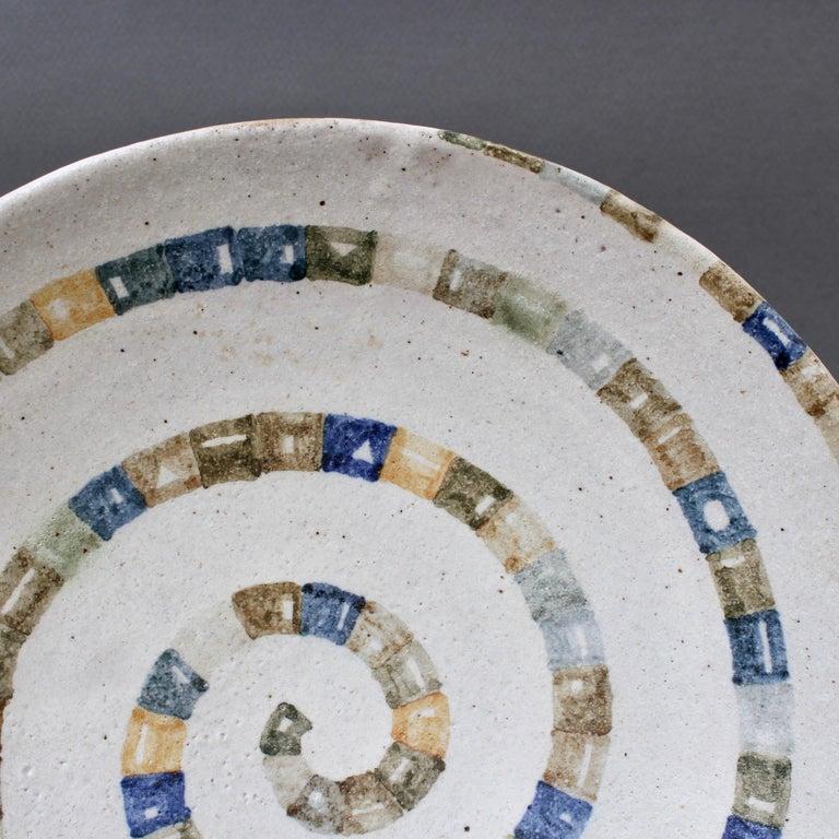 Italian Ceramic Decorative Bowl by Bruno Gambone (circa 1980s) For Sale 7