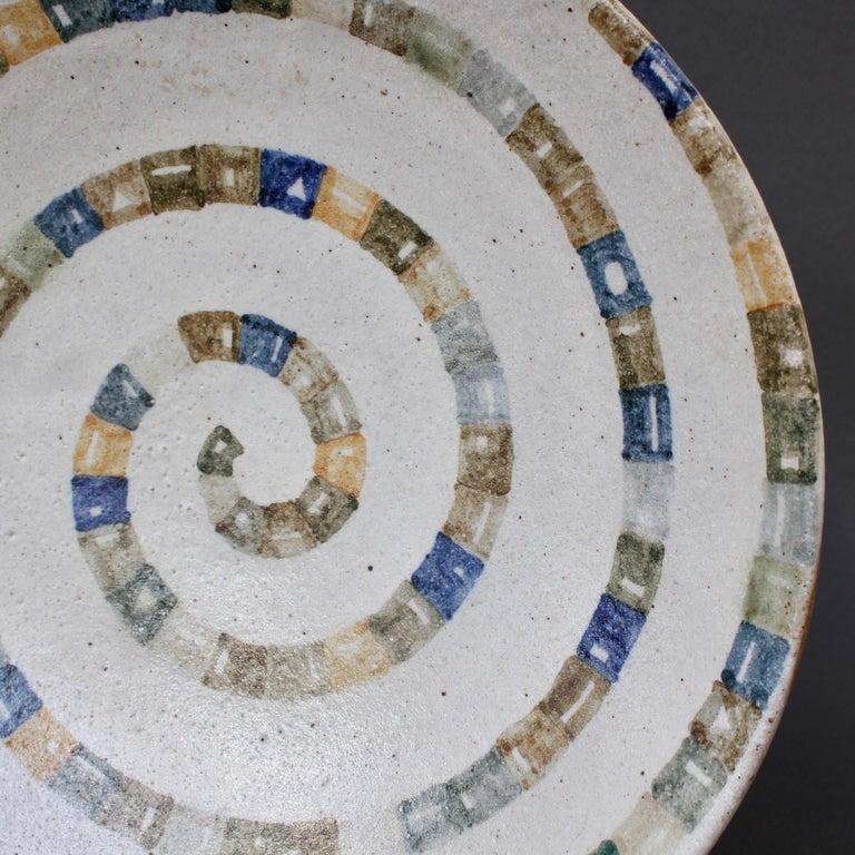 Italian Ceramic Decorative Bowl by Bruno Gambone (circa 1980s) For Sale 8