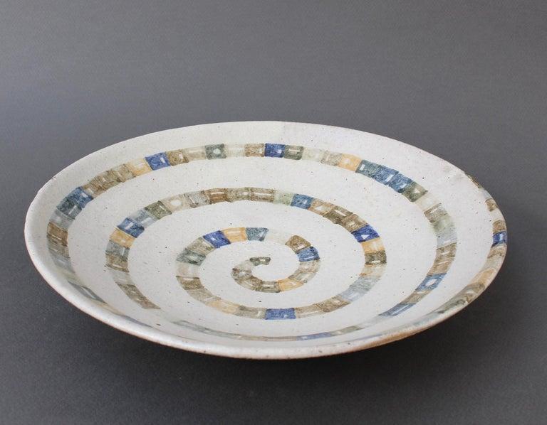 Italian Ceramic Decorative Bowl by Bruno Gambone (circa 1980s) For Sale 9