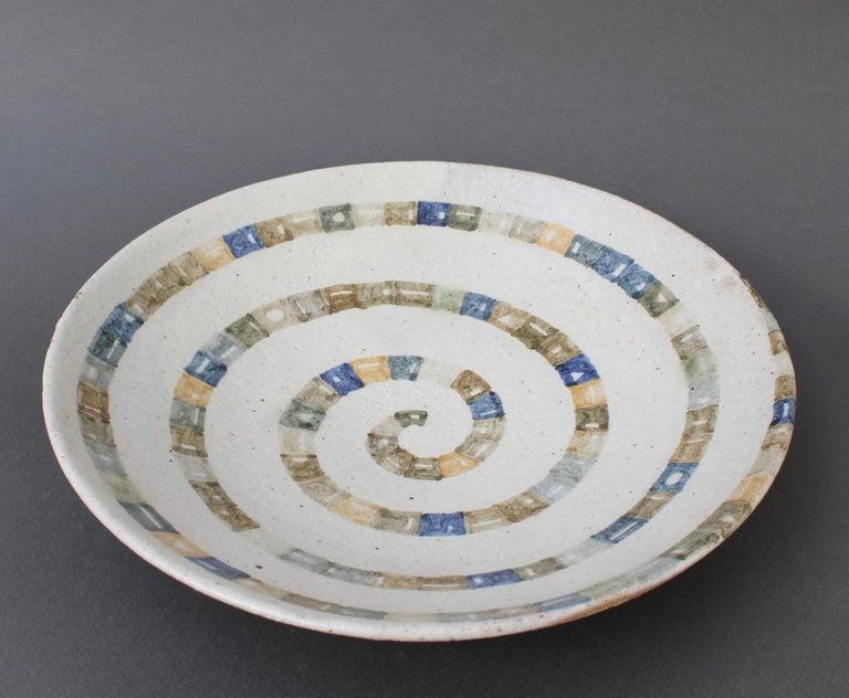 Italian Ceramic Decorative Bowl by Bruno Gambone (circa 1980s) For Sale 10