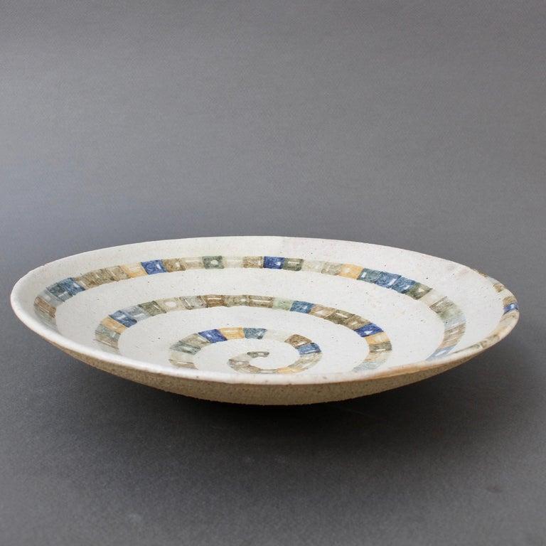 Italian Ceramic Decorative Bowl by Bruno Gambone (circa 1980s) For Sale 11