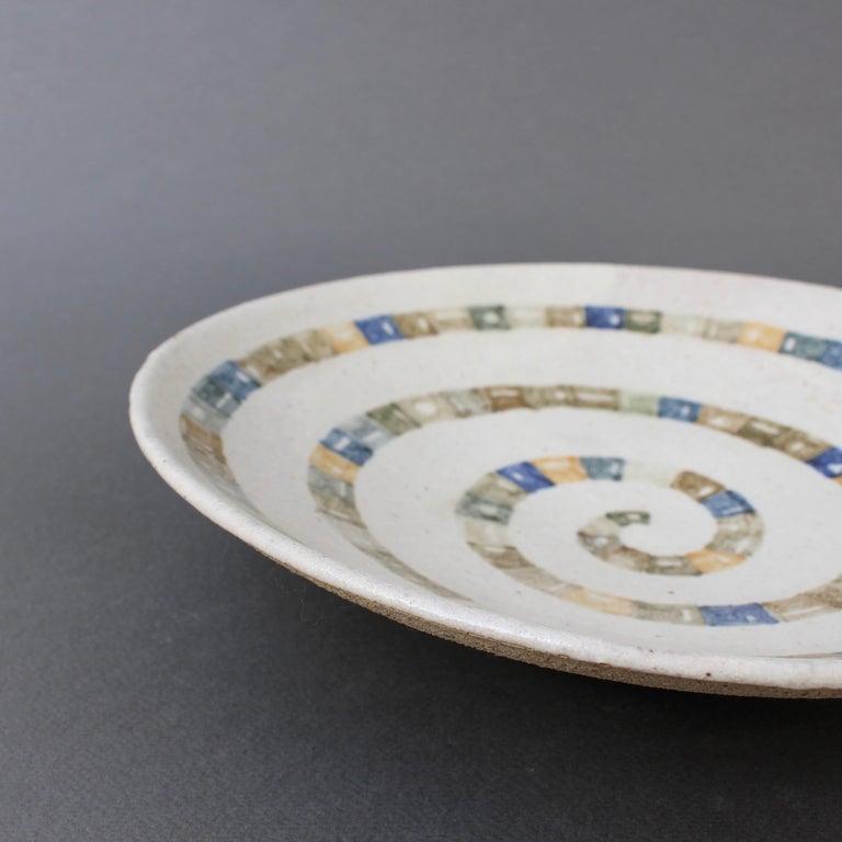 Italian Ceramic Decorative Bowl by Bruno Gambone (circa 1980s) For Sale 12