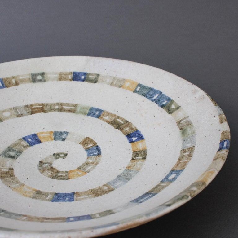 Italian Ceramic Decorative Bowl by Bruno Gambone (circa 1980s) For Sale 14