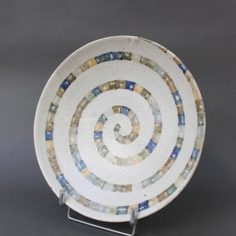 Italian Ceramic Decorative Bowl by Bruno Gambone (circa 1980s) In Good Condition For Sale In London, GB