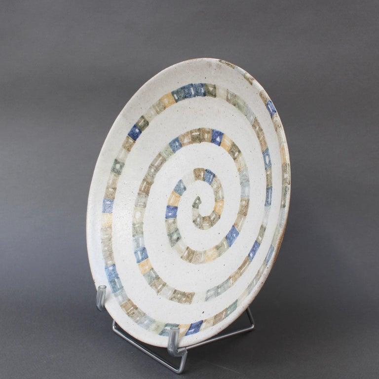 Late 20th Century Italian Ceramic Decorative Bowl by Bruno Gambone (circa 1980s) For Sale