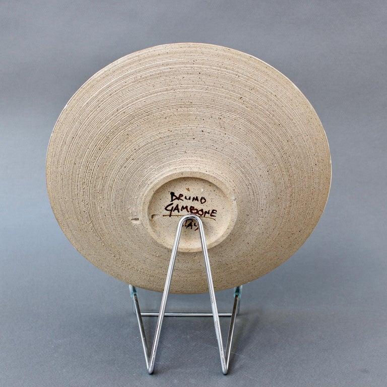 Italian Ceramic Decorative Bowl by Bruno Gambone (circa 1980s) For Sale 2