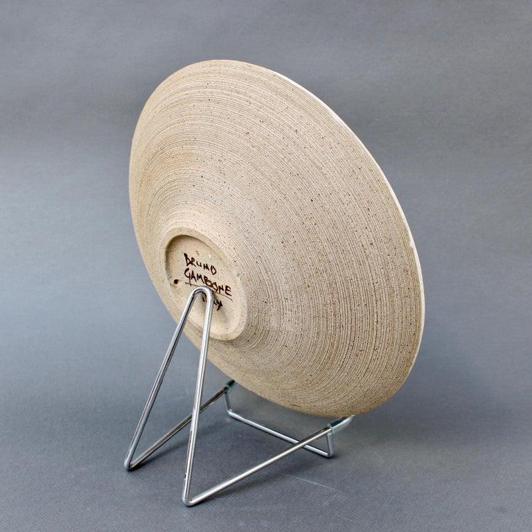 Italian Ceramic Decorative Bowl by Bruno Gambone (circa 1980s) For Sale 3