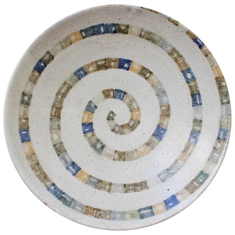 Italian Ceramic Decorative Bowl by Bruno Gambone (circa 1980s) For Sale