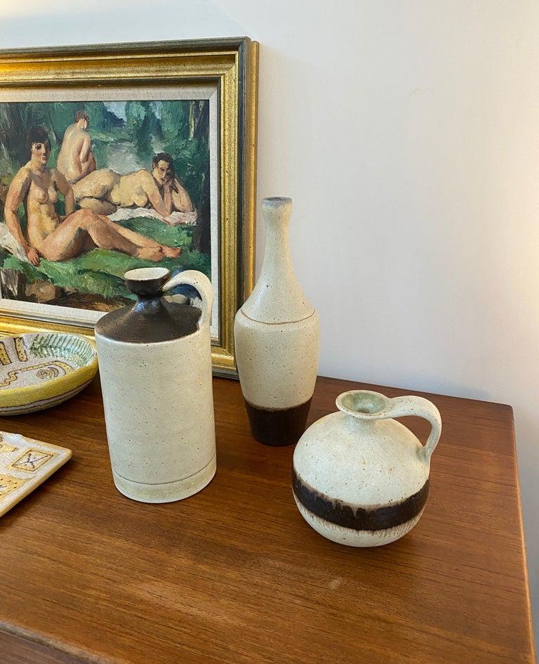 Minimalist Italian Ceramic Decorative Jug by Bruno Gambone, circa 1970s For Sale