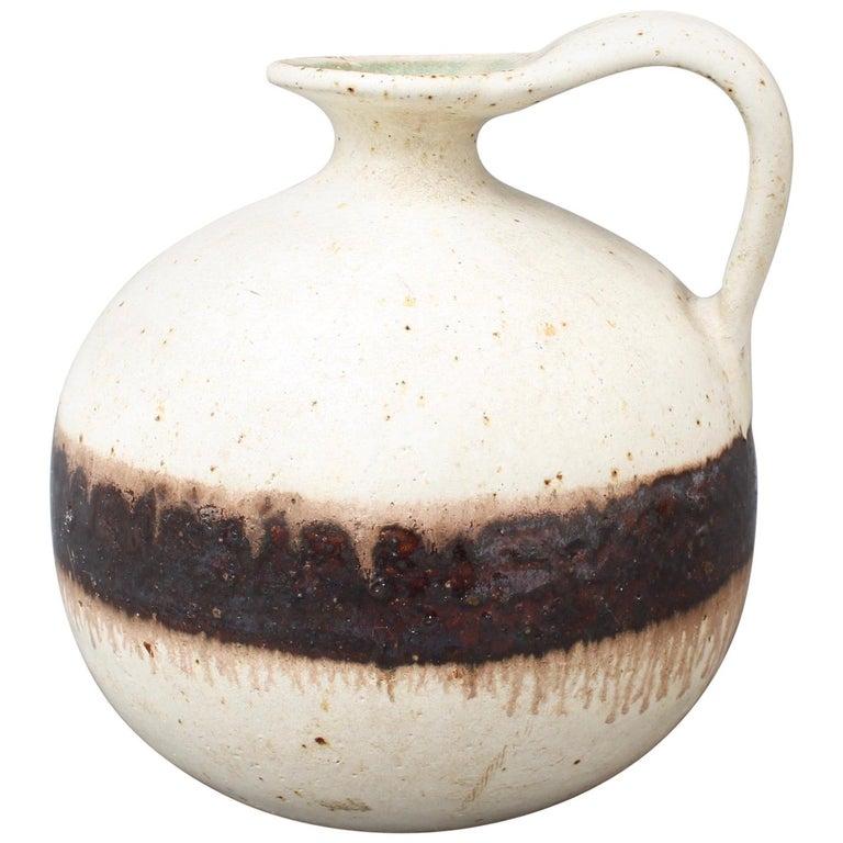 Italian Ceramic Decorative Jug by Bruno Gambone, circa 1970s For Sale
