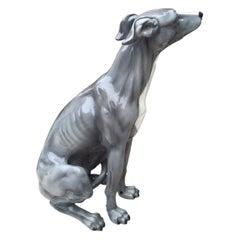 Italian Ceramic Dog Sculpture