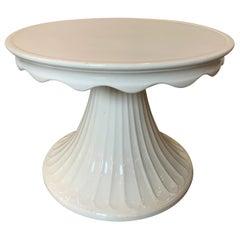 Italian Ceramic Drinks Table Blanc de Chine by Bassanello, Martin Imports