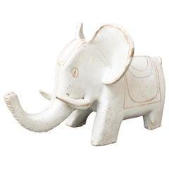 Italian Ceramic Elephant Sculpture by Bruno Gambone, circa 1970s