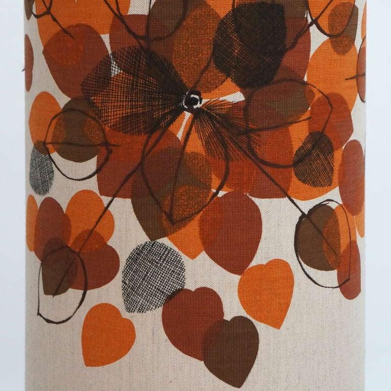 20th Century Italian Ceramic Floor Lamp with Flowers For Sale