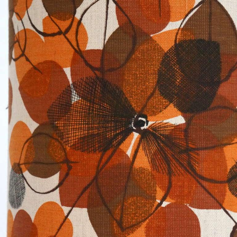 Italian Ceramic Floor Lamp with Flowers For Sale 1
