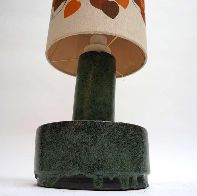 Italian Ceramic Floor Lamp with Flowers For Sale 2