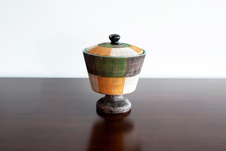 Mid-Century Modern Italian Ceramic Jar by Bitossi For Sale