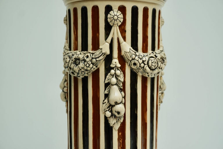 Italian Ceramic Pedestal or Column For Sale 7