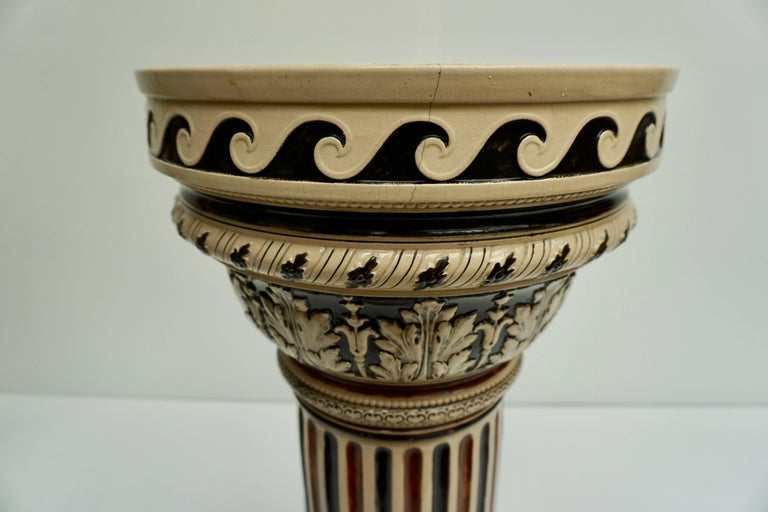 Italian Ceramic Pedestal or Column For Sale 10