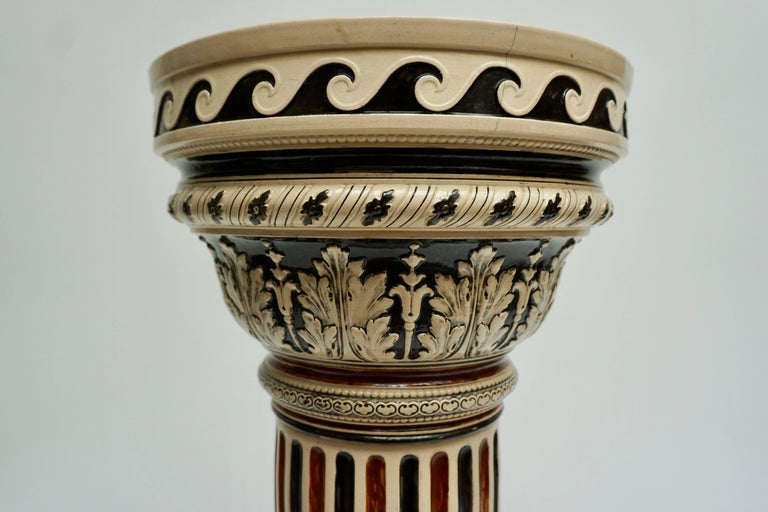 Italian Ceramic Pedestal or Column For Sale 12
