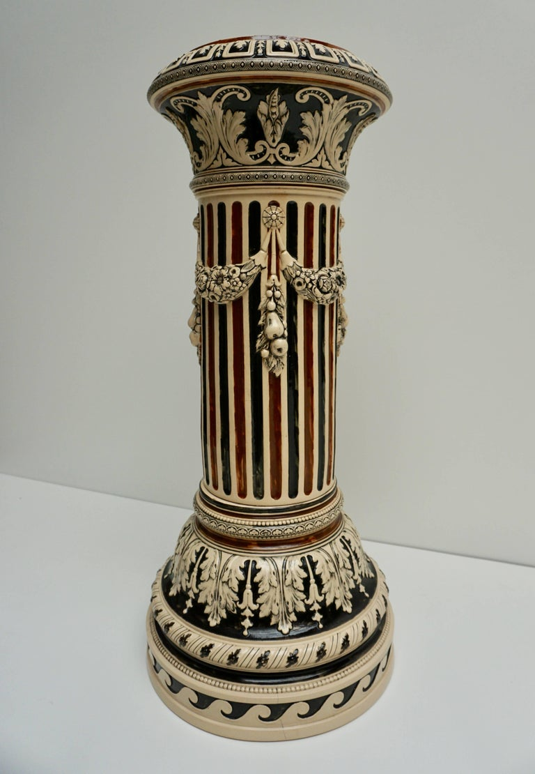 Art Deco Italian Ceramic Pedestal or Column For Sale