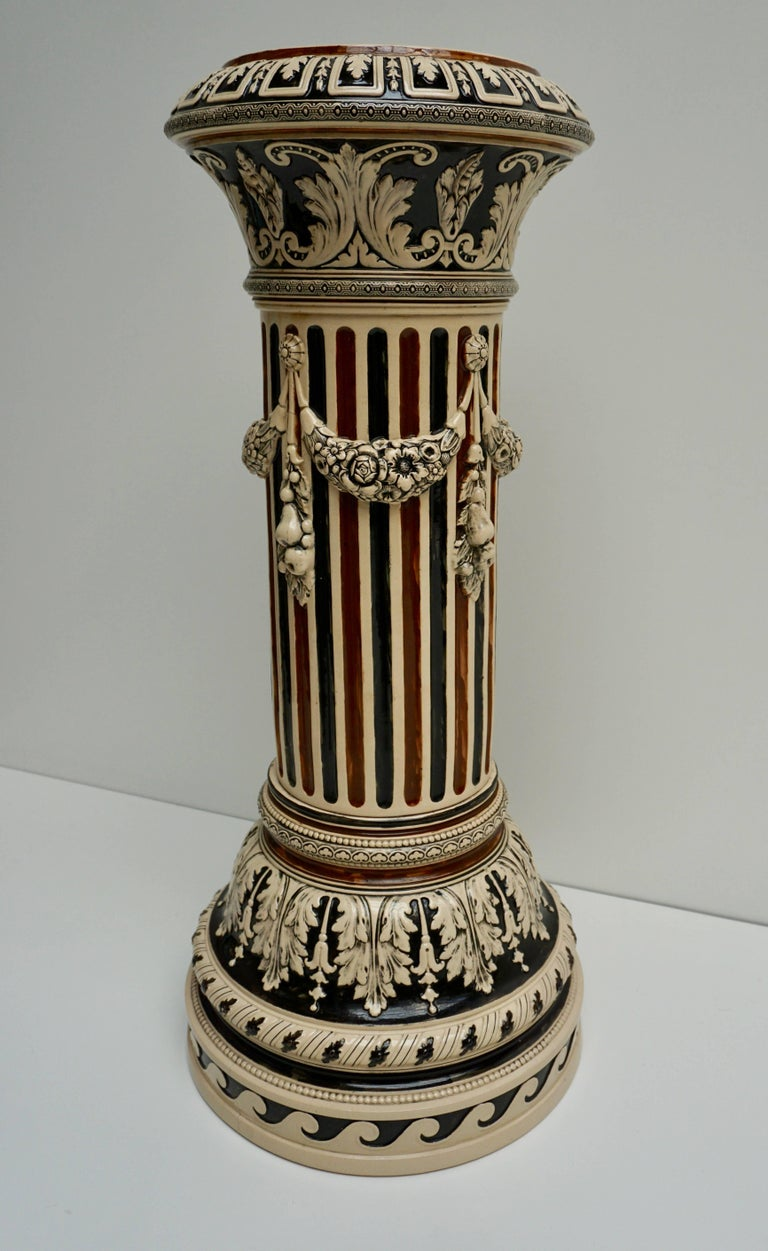 Italian Ceramic Pedestal or Column In Good Condition For Sale In Antwerp, BE