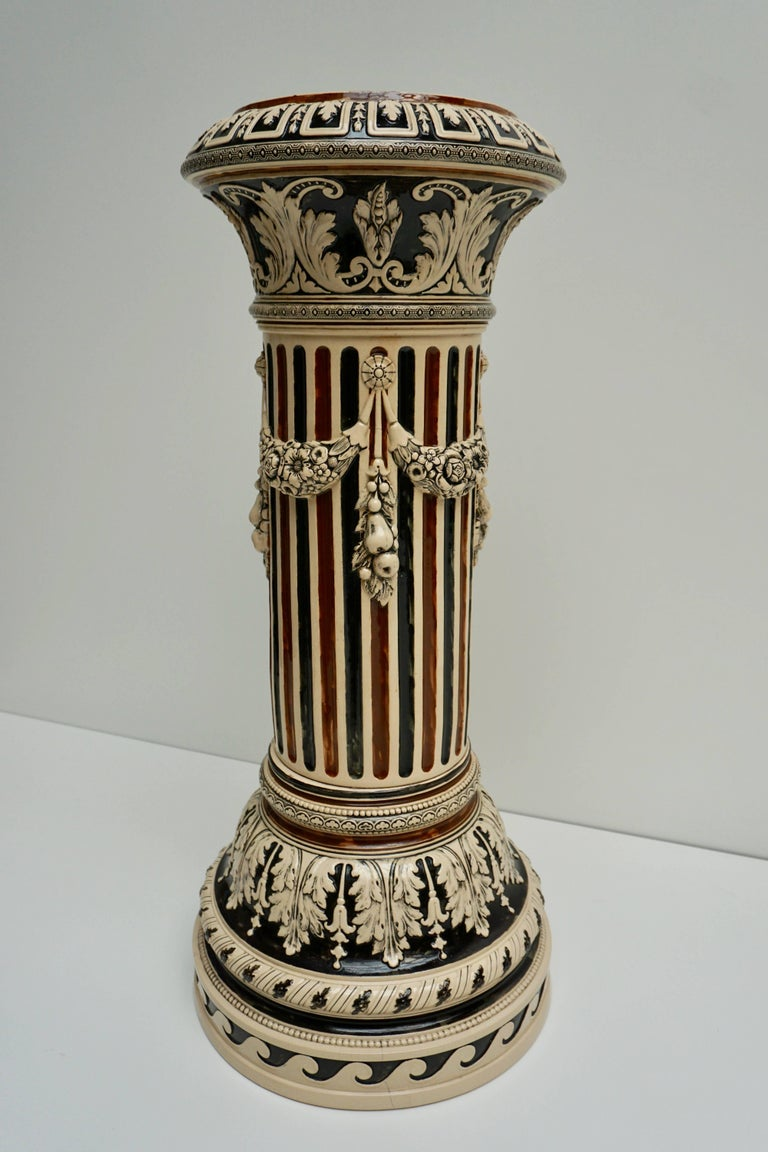 20th Century Italian Ceramic Pedestal or Column For Sale