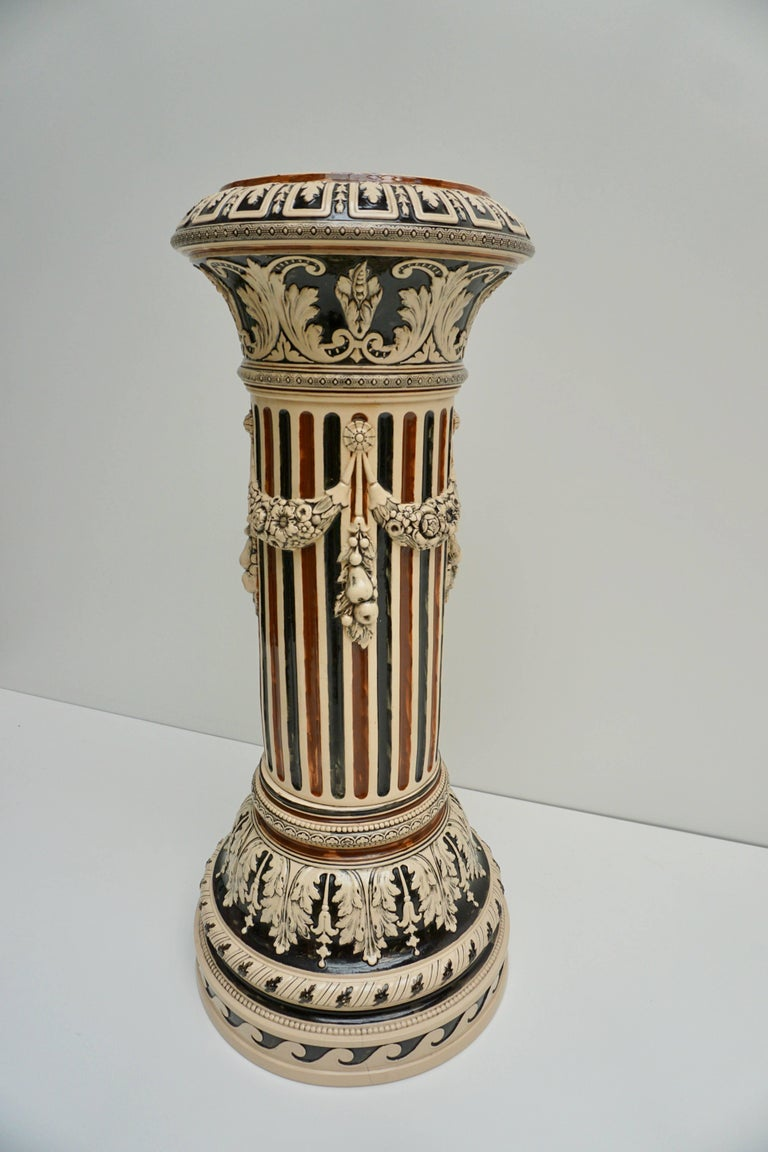 Italian Ceramic Pedestal or Column For Sale 1
