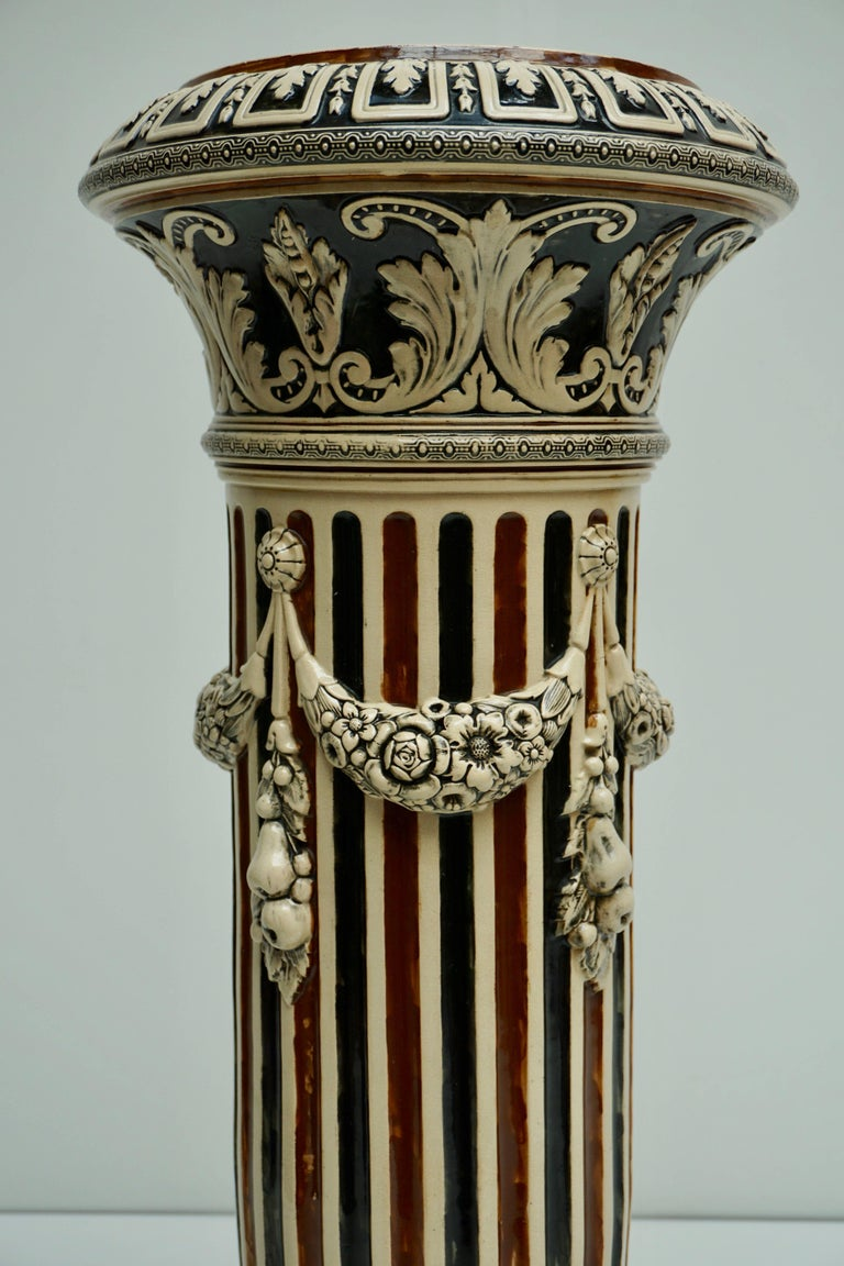 Italian Ceramic Pedestal or Column For Sale 2